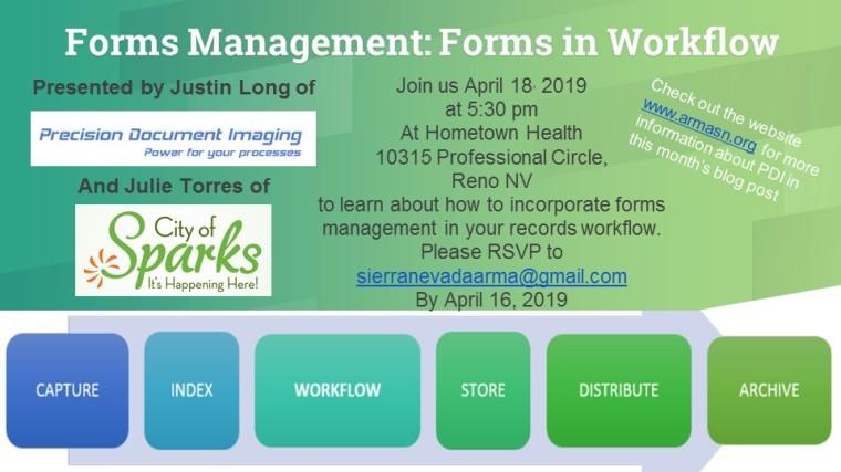April Meeting Annoucement